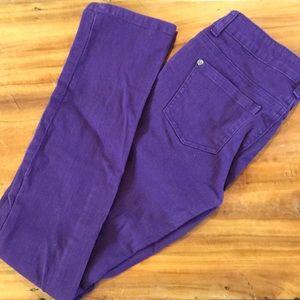 Purple Candy Hearts by Hartstrings Skinny Jeans